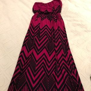 Pink and dark blue maxi.